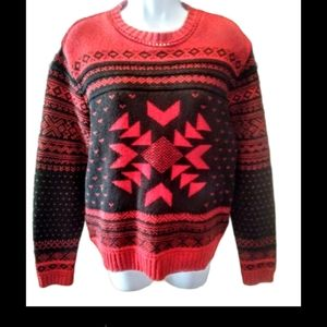 Parkhurst Cotton country vintage black&red sweater
